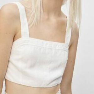 Wilfred | White Sleeveless Crop Top